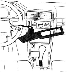 1991 Volvo 740 Climate Controller Removal Instructions