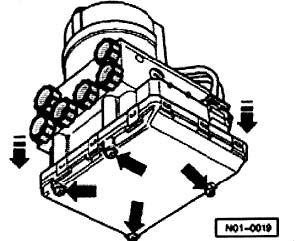 1999 2001 Golf Beetle Jetta Abs Module Removal Instructions