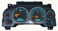 Repair Service for 2007-2012  Cadillac Escalade Instrument Cluster. This Repair Service Covers Faulty Gauges ,Back Lights and Display Lighting . We replace with new, All Highest Quality Gauge Stepper Motors & Incandescent Bulbs (All Replaced)