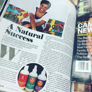 Oyin Handmade CEO, Jamyla Bennu, Profiled in Ebony Magazine!