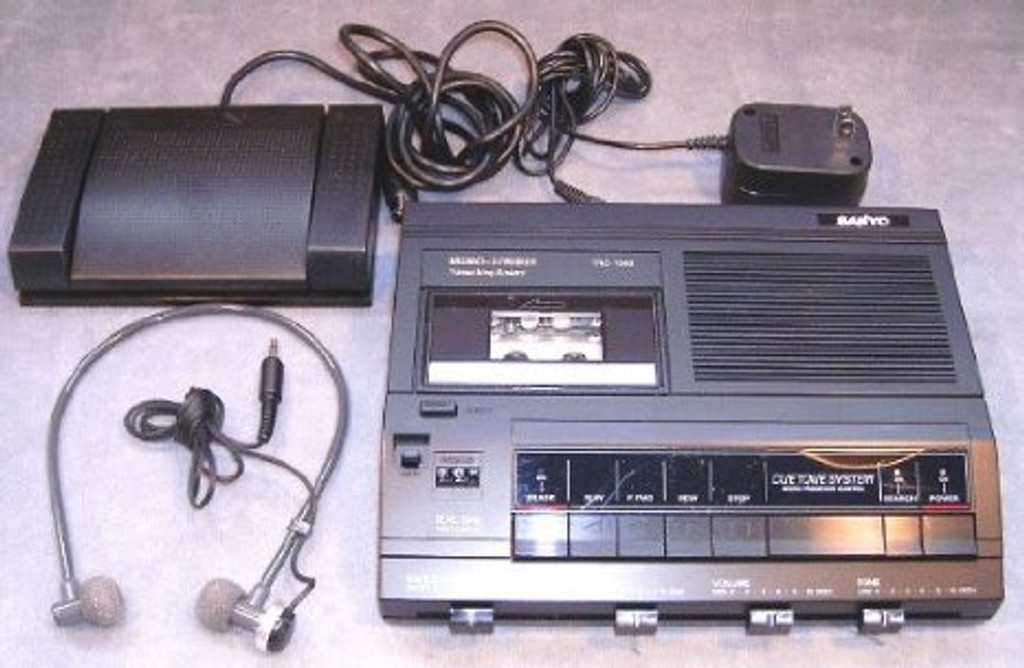 Sanyo TRC-7050a Minicassette Transcription Transcriber Machine