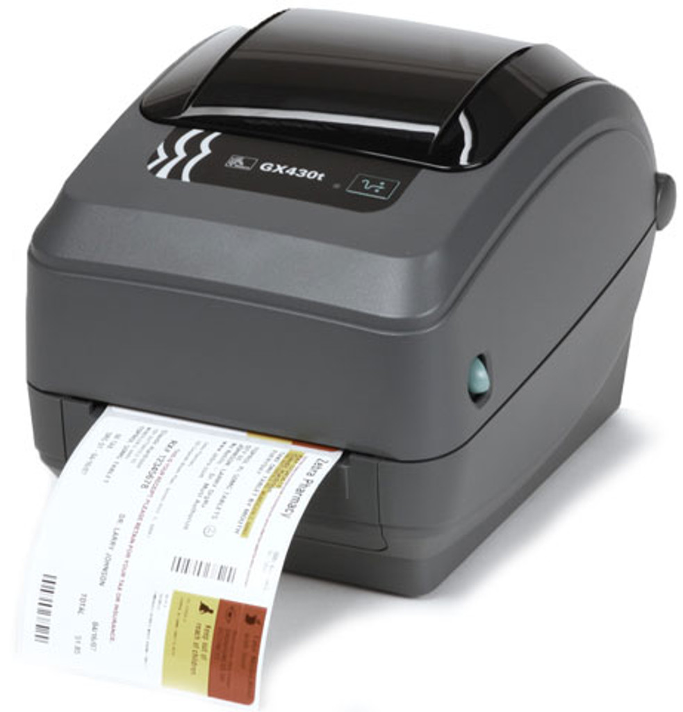 Zebra GX Series GX430t Monochrome Direct Thermal/Thermal Transfer Label Printer