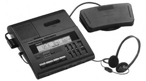 Sony BM-77 Standard Cassette 2 speed two-speed transcriber transcription machine