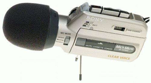 Sony M-100MC  Microcassette Voice Recorder
