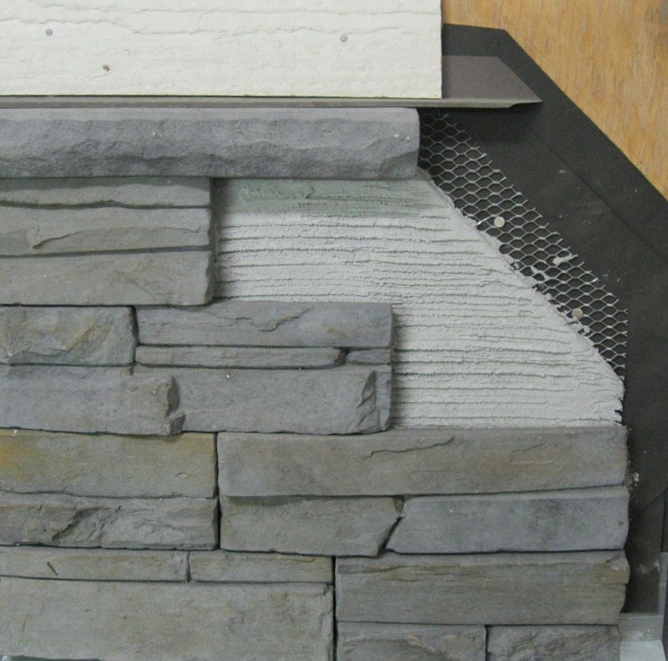 Installation guide for stone siding stone veneer and for How to install stone veneer over exterior brick
