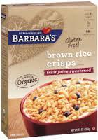 Brown rice Crisps, FJS, 6 of 10 OZ, Barbara'S Bakery