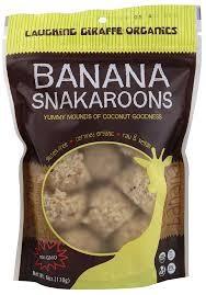 Banana Coconut, 8 Ct Bag, 8 of 6 OZ, Laughing Giraffe Organics
