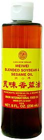 Meiwei Blended Soybean & Sesame Oil 8 fl oz  From Uncle Chen