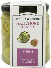 Artichokes, Whole in Brine, 6 of 14.5 OZ, Cucina & Amore