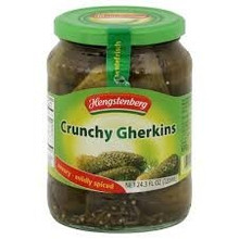 Crunchy Gherkins In Jar, 12 of 24.3 OZ, Hengstenberg
