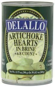 Artichoke Hearts, 6-8 Ct, 12 of 13.75 OZ, De Lallo