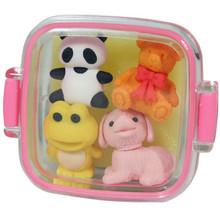 Animal Bento Box Erasers Pink  From Iwako