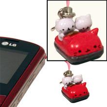 Nyanko Bumper Car Phone Charm  From San-X