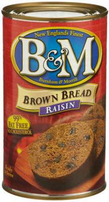 Brown Bread with Raisins, 12 of 16 OZ, B&M