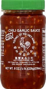 Chili Sauce, Garlic, 24 of 8 OZ, Huy Fong