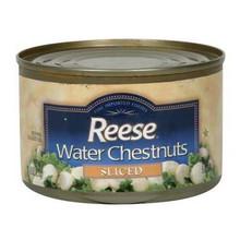 Waterchestnuts, Sliced, 24 of 8 OZ, Reese