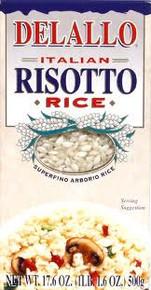 Risotto Arborio Rice, 12 of 17.6 OZ, De Lallo