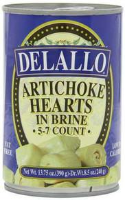 Artichoke Hearts, 5/7, 12 of 13.75 O, De Lallo
