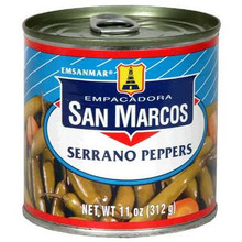 Peppers, Serrano, Can, 12 of 11 OZ, San Marcos