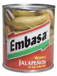 Jalapeno, Whole, 12 of 26 OZ, Embasa