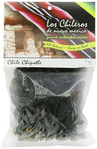 Chile Chipotle, Whole, Dk Red, 8 of 3 OZ, Los Chileros