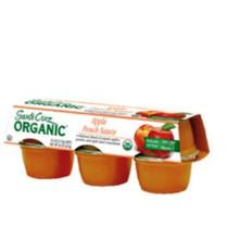 Apple Peach, 12 of 6 of 4 OZ, Santa Cruz Organic