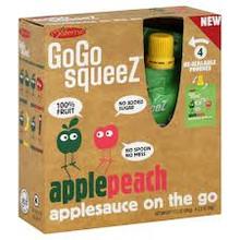 Apple Peach, 12 of 4 of 3.2 OZ, Gogo Squeez