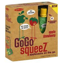 Apple Strawberry, 12 of 4 of 3.2 OZ, Gogo Squeez