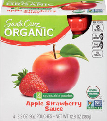 Apple Strawberry, 24 of  3.2 OZ, Santa Cruz Organic