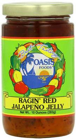 Jelly, Jalapeno Red, 6 of 10 OZ, Oasis Foods