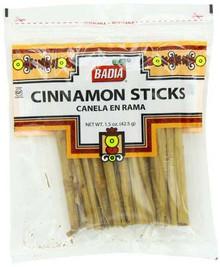 Cinnamon Sticks, 12 of 1.5 OZ, Badia Spices