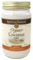 Coconut Oil, Refined, 12 of 14 OZ, Spectrum Naturals