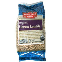 Lentils, Green, 6 of 16 OZ, Arrowhead Mills