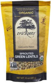 Green Lentils, Sprouted, 6 of 10 OZ, Tru'Roots