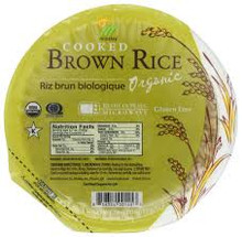 Brown Rice, Cooked, 12 of 7.4 OZ, Minsley