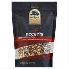Accents Germinated Brn Rce Trio, 6 of 8 OZ, Tru'Roots