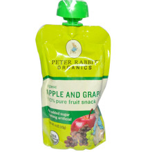 Apple & Grape, 10 of 4 OZ, Peter Rabbit Organics