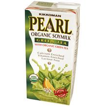 Organic Soymilk Green Tea 32 oz  From Kikkoman