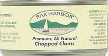 Chopped Clams, 12 of 6.5 OZ, Bar Harbor