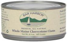 Maine Cherrystone Clams, 12 of 6.5 OZ, Bar Harbor
