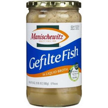 Gefilte Fish, Liquid, 12 of 24 OZ, Manischewitz