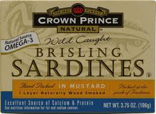 In Mustard Sauce, 1 Layer, 12 of 3.75 OZ, Crown Prince