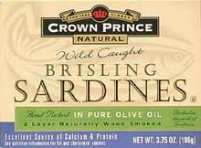 In Olive Oil, Brisling, 12 of 3.75 OZ, Crown Prince