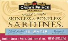 In Water, Skinless & Boneless, 12 of 4.37 OZ, Crown Prince