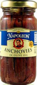Anchovy, Flat in Glass, 12 of 3.5 OZ, Napoleon Co.
