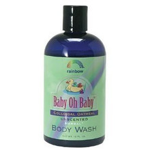 Body Wash, Oat, Colloidal, Unscnt, 12 OZ, Rainbow Research