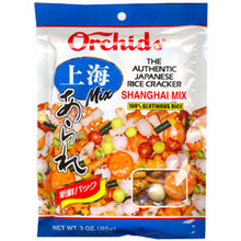 Rice Crackers Shanghai Mix 3 oz  From Orchids