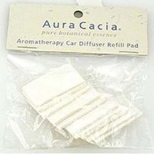Car/Room Diffuser Refill Pads, 1 of 10 PK, Aura Cacia