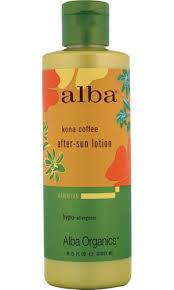 After Sun Ltn, Aloe Kona Coffee, 8.5 OZ, Alba Botanica