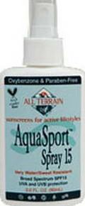 AquaSport SPF15, Spray, 3 OZ, All Terrain